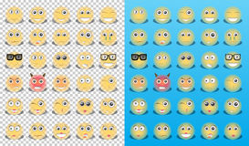 Yellow icons emoticons Stock Images