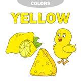yellow Impari il colore Insieme di istruzione Illustrazione dei colori primari Vettore royalty illustrazione gratis