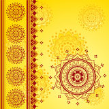 Yellow Indian background Royalty Free Stock Photo