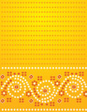 Yellow Indian fabric background Royalty Free Stock Photography