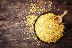 Yellow indian lentils Royalty Free Stock Images