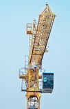 Yellow Industrial Crane on Construction Site Stock Photos