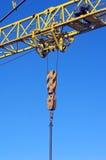 yellow industrial crane Royalty Free Stock Photo