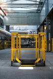 Yellow industrial frame Stock Photos