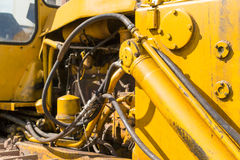 Yellow Industrial Machines Engine Compartment Royalty Free Stock Photos