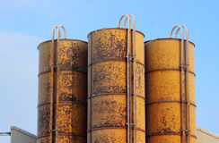 Yellow industrial tank Royalty Free Stock Photo