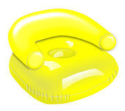 Yellow Inflatable Chair Royalty Free Stock Image