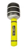 Yellow Inflatable Toy Microphone. Isolated on White stock photography