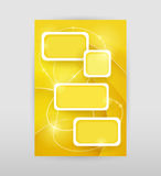 Yellow infographic template. Abstract bright yellow background with rectangle white frames. Infographic template vector illustration