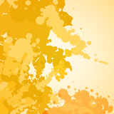 Yellow ink drops Stock Photos