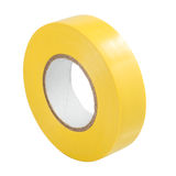 Yellow insulating tape isolated Stock Photo