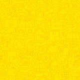 Yellow Insurance Line Tile Pattern Royalty Free Stock Photography