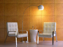 Yellow interior composition Royalty Free Stock Images