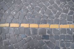 Road markings on paving on the street Stock Photography