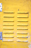 Yellow iron door Royalty Free Stock Photography