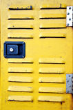 Yellow iron door Royalty Free Stock Images