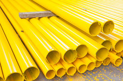 Yellow iron pipe Royalty Free Stock Photos