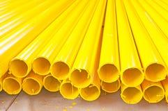 Yellow iron pipe Stock Photography