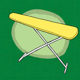 Yellow Ironing Board Royalty Free Stock Images