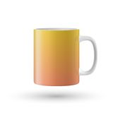 Yellow isolated cup. Vector illustration Stock Photography