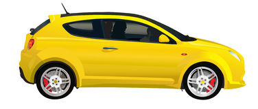 Yellow italian car Royalty Free Stock Photography