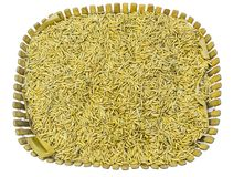 Yellow jasmin ripe rice on white. Ready to cook Stock Image
