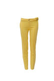 Yellow jeans Royalty Free Stock Photography