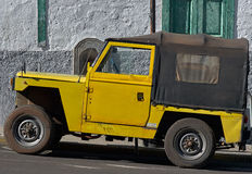 Yellow jeep Royalty Free Stock Photo