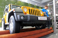Yellow Jeep Wrangler Royalty Free Stock Photos