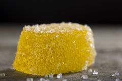 Yellow jelly candy Royalty Free Stock Image