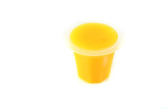 Yellow jelly Stock Photography