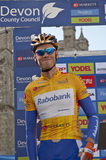 Yellow jersey holder Lars Boom Royalty Free Stock Images