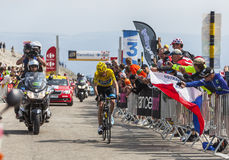 Yellow Jersey on Mont Ventoux Royalty Free Stock Images