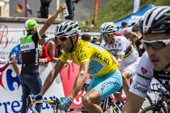 The Yellow Jersey - Vincenzo Nibali Royalty Free Stock Photo