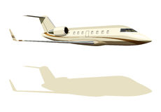 Yellow jet airplane Stock Image
