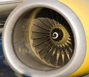 Yellow Jet Engine Royalty Free Stock Image
