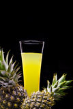 Yellow juice Royalty Free Stock Images