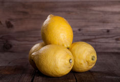 Yellow juicy Lemons Stock Photo