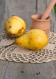 Yellow juicy pears Royalty Free Stock Photography