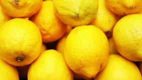 Yellow juicy ripe large lemons Stock Photo