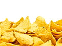Yellow junkfood on white Stock Photography