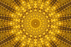 Yellow kaleidoscope Stock Photos