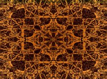 Yellow kaleidoscope pattern Royalty Free Stock Images