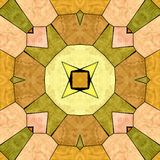 Yellow kaleidoscope seamless pattern stock photo