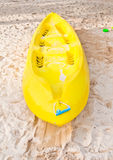 Yellow kayak Stock Photography