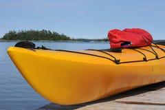 Yellow kayak Royalty Free Stock Photography
