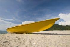 Yellow kayak Stock Photos
