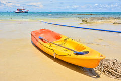 Yellow kayak Royalty Free Stock Photo