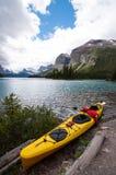 Yellow kayak Royalty Free Stock Photos