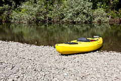 Yellow Kayak Royalty Free Stock Photo